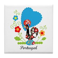 Portuguese Rooster Tile Coaster