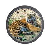 Mad Tiger Wall Clock