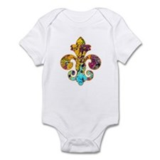 Fleur de lis Faux Paint 4 Infant Bodysuit