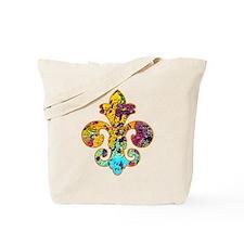 Fleur de lis Faux Paint 4 Tote Bag