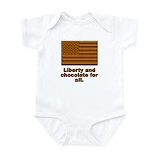 Liberty & Chocolate Infant Bodysuit