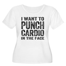 Punch Cardio In The Face Plus Size T-Shirt