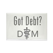 Got Debt - DVM Rectangle Magnet (10 pack)