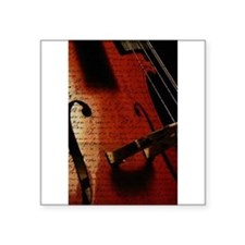 "Cute Instrument Square Sticker 3"" x 3"""