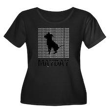 Mayday Black Dog Logo Plus Size T-Shirt