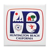 Huntington Beach California Tile Coaster