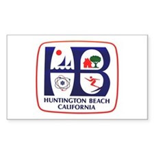 Huntington Beach California Rectangle Decal