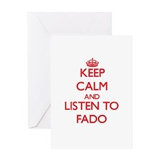 Keep calm and listen to FADO Greeting Cards