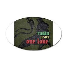 Rasta Peace One Love Wall Decal