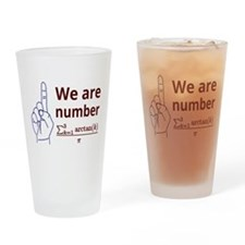 We are number one! Drinking Glass