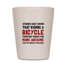 Bicycle More Awesome Shot Glass