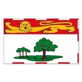 Prince Edward Island Rectangle Bumper Stickers