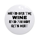 Wine Ransom Note Ornament (Round)
