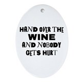 Wine Ransom Note Oval Ornament