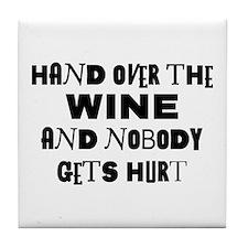 Wine Ransom Note Tile Coaster