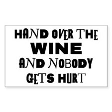 Wine Ransom Note Rectangle Sticker