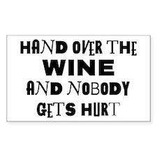 Wine Ransom Note Rectangle Sticker