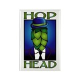 Hop Head Rectangle Magnet