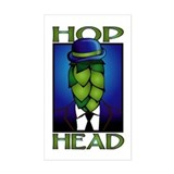 Hop Head Rectangle  Aufkleber