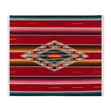 Southwest Red Serape Saltillo Throw Blanket