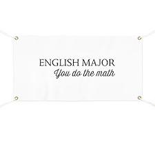 English major you do the math Banner