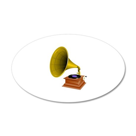Gramophone Player Music Wall Decal