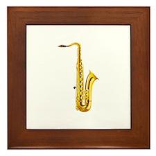 Saxophone Musical Instrument Framed Tile