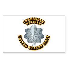 Navy - Commander - O-5 - Retir Decal