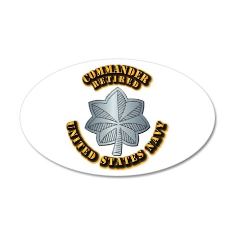 Navy - Commander - O-5 - Ret 20x12 Oval Wall Decal