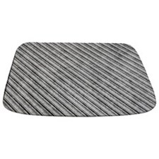 Medium Grey Metal Diagonal Ridges MAT Bathmat