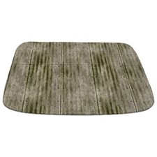 Grungy Grey Riveted Metal Panels MAT Bathmat