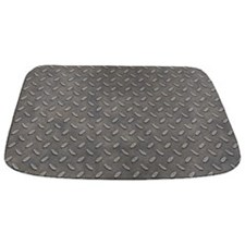 Grunge Grey Metal Tread Pattern MAT Bathmat
