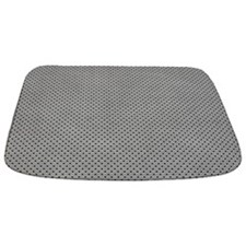 Dull Grey Perforated Metal Panel MAT Bathmat