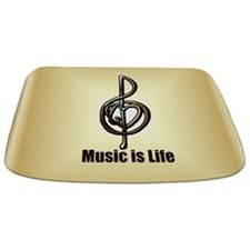 Treble Clef Music Gold Customizable Bathmat