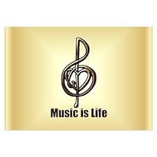 Treble Clef Music Gold Customiz 3.5 x 5 Flat Cards