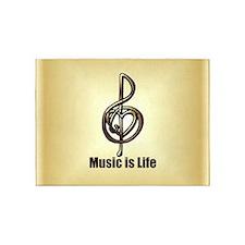 Treble Clef Music Gold Customizable 5'x7'Area Rug
