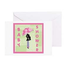 Baby Shower Pink Greeting Cards (Pk of 10)