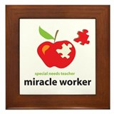 Cute Autism treatment Framed Tile