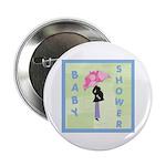 Baby Shower Blue Button