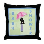 Baby Shower Blue Throw Pillow