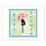 Baby Shower Blue Small Poster