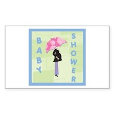 Baby Shower Blue Rectangle Decal