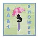 Baby Shower Blue Tile Coaster