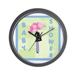 Baby Shower Blue Wall Clock