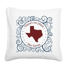 Texas Square Canvas Pillow