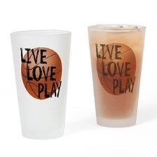 Live, Love, Play - Basketball Drinking Glass