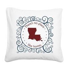 Louisiana Square Canvas Pillow
