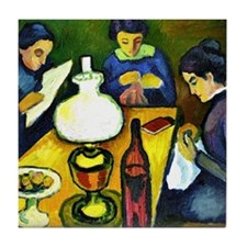 August Macke - Three Women at the Tab Tile Coaster