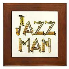 Jazz man sax saxophone Framed Tile