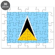 St. Lucia Flag Puzzle